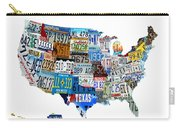 Usa License Plates Map 4p Carry-all Pouch
