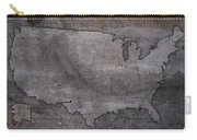Usa Map Outline On Concrete Wall Slab Carry-all Pouch