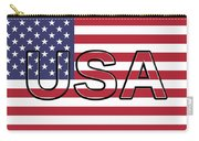 Usa On The American Flag Carry-all Pouch
