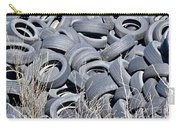 Used Tires At Junk Yard Carry-all Pouch