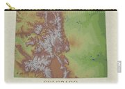 Usgs Map Of Colorado Carry-all Pouch