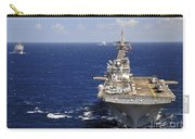 Uss Boxer Leads A Convoy Of Ships Carry-all Pouch