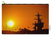 Uss Carl Vinson At Sunset 3 Carry-all Pouch