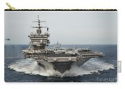 Uss Enterprise Transits The Atlantic Carry-all Pouch by Stocktrek Images