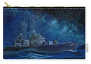 Uss Truxtun Dlgn-35 A Nuclear-powered Cruiser At Sea At Night Under The Milky Way Carry-all Pouch
