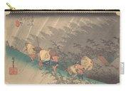 Utagawa Hiroshige    Shno Hakuuwhite Rain At Shno Carry-all Pouch