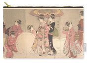 Utagawa Toyokuni I    Courtesans And Attendants Playing In The Snow Carry-all Pouch