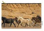 Ute Mountain Wild Horses On The Run Carry-all Pouch