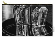 Utensils Reflected - Bw Carry-all Pouch