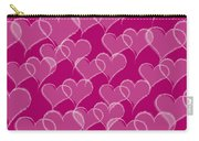 Valentine Hearts Pattern Carry-all Pouch
