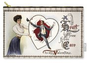 Valentines Day Card, 1909 Carry-all Pouch