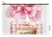 Valentino Pink With Peony Carry-all Pouch