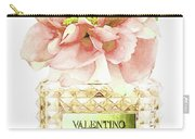 Valentino With Peony Carry-all Pouch