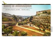 Valley Of Jehoshaphat, Jerusalem, Israel Carry-all Pouch