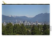 Vancouver Bc City Skyline And Mountains View Carry-all Pouch