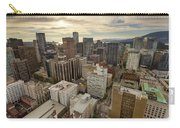 Vancouver Bc Cityscape Aerial View Carry-all Pouch