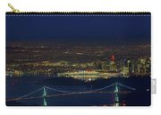 Vancouver Bc Cityscape By Lions Gate Bridge Carry-all Pouch