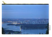 Vancouver Bc Cityscape During Blue Hour Dawn Carry-all Pouch