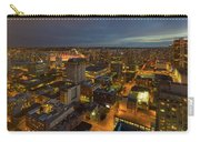 Vancouver Bc Cityscape During Evening Twilight Carry-all Pouch