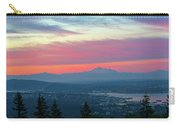 Vancouver Bc Cityscape With Cascade Range Morning View Carry-all Pouch