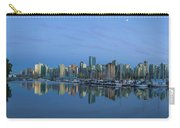 Vancouver Bc Skyline During Blue Hour Panorama Carry-all Pouch