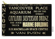 Vancouver Canada Famous Landmarks Carry-all Pouch