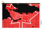 Vancouver Street Map - Vancouver Canada Road Map Art On Canada Flag Symbols Carry-all Pouch