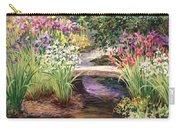 Vandusen Garden Iris Bridge Carry-all Pouch