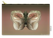 Vanilla Butterfly Rose Carry-all Pouch