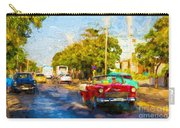 Vintage Cars In Varadero Carry-all Pouch