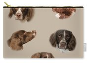 Variations Of A Spaniel Carry-all Pouch