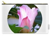 Variegated Hibiscus Flower In Circle Carry-all Pouch