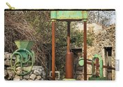 Various Old Rusty Vintage Agricultural Devices In Croatia Carry-all Pouch