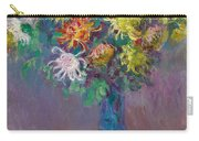 Vase Of Chrysanthemums Carry-all Pouch