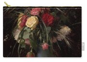 Vase Of Flowers And A Visiting Card Carry-all Pouch
