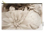 Vase Of Flowers In Sepia Carry-all Pouch