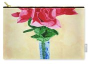 Vase Of Red Roses Carry-all Pouch