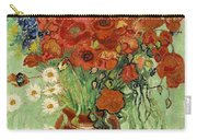 Vase With Daisies And Poppies Carry-all Pouch