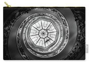 Vatican Staircase Looking Up Black And White Carry-all Pouch