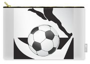 Vector Soccer Ball. Corner Kick Graphic Symbol Carry-all Pouch