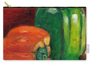 Vegetable Still Life Green And Orange Pepper Grace Venditti Montreal Art Carry-all Pouch