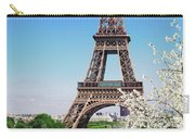Eiffel Tower And Spring Carry-all Pouch