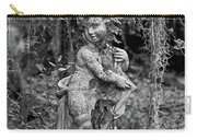 Veil Of Vines Black And White Carry-all Pouch