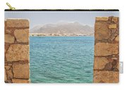 Veiw Of Lerapetra From Kales Fort Portrait Composition Carry-all Pouch