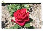 Velvet Red Rose Carry-all Pouch