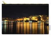 Velvety Reflections - Valletta Grand Harbour At Night Carry-all Pouch