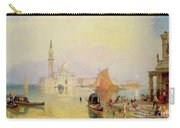 Venetian Scene, 19th Century Carry-all Pouch
