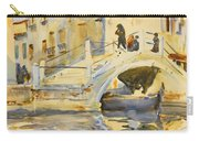 Venice. Bridge With Figures  Carry-all Pouch