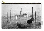 Venice. Gondola. Black And White. Carry-all Pouch