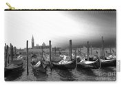 Venice Gondolas Black And White Carry-all Pouch
